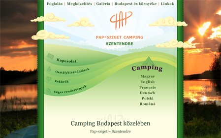 camping-budapest.com screenshot