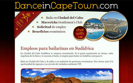 danceincapetown.com screenshot