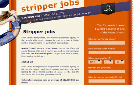 stripperjobs.co screenshot